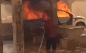 هايلوكس تحترق في السعودية