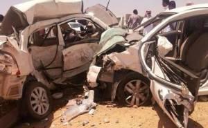 تحطم تويوتا كورولا ونيسان صني في السعودية