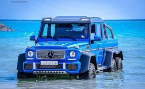 مرسيدس G63 AMG 6X6 سعودية تسبح في مياه البحر