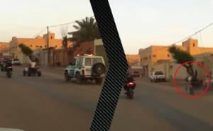 مفحط يصطدم بدورية سعودية