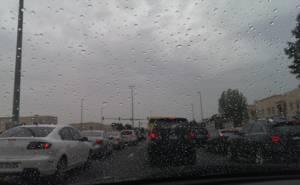 الجو الماطر