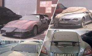 سيارات ثمينة مهجورة في دبي