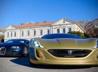 سيارة كرواتية خارقة تحرج أسطورة السرعة بوغاتي فيرون
