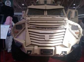 مدرعة عسكرية سعودية تحمل اسم خادم الحرمين