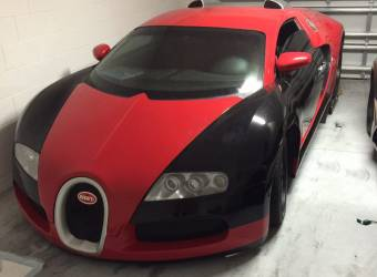 بوغاتي فيرون أصلها سيارة فورد معروضة للبيع