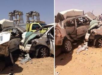 حادث تصادم عنيف يتسبب في مصرع شخصين في السعودية