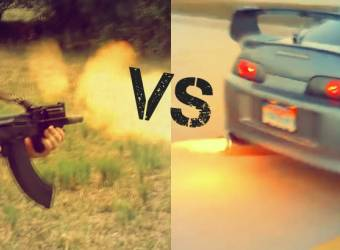 تويوتا سوبرا تنافس صوت رشاش ميني AK-47