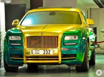 دبي تشهد ظهور لون عجيب لسيارة رولز رويس جوست