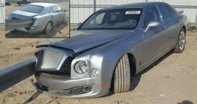 حادث سيارة بنتلي
