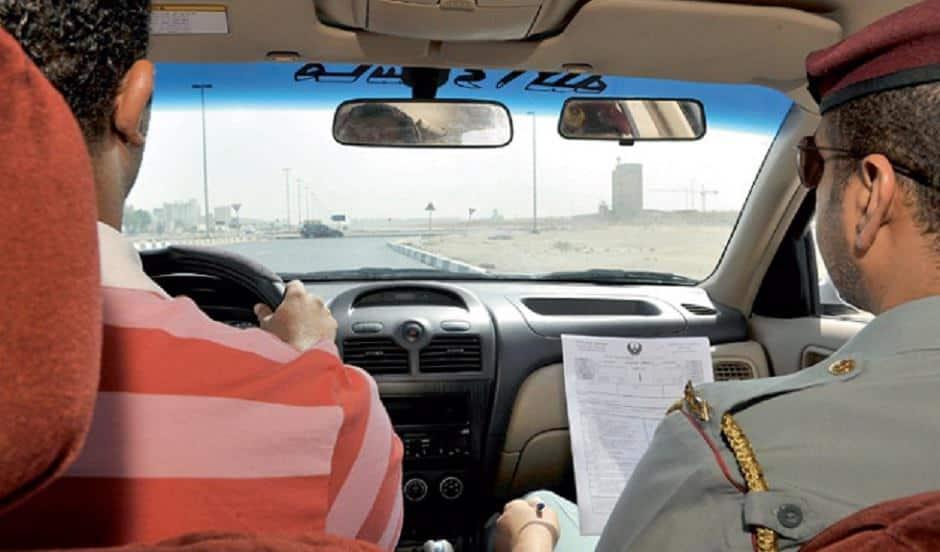 اختبار قيادة سيارات في دبي