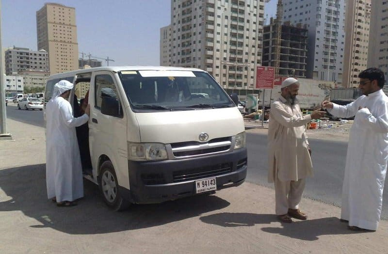 مخالفة نقل ركاب دبي