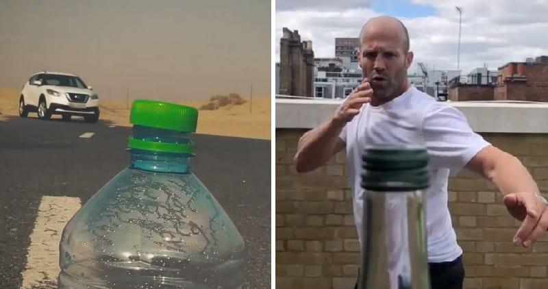 تحدي غطاء الزجاجة يصل الى عالم السيارات Bottlecapchallege