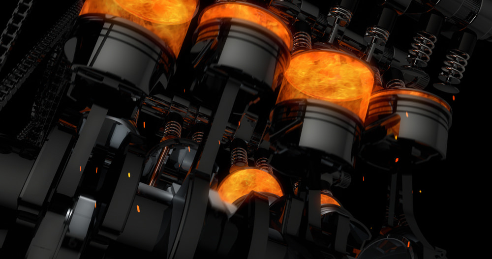 حرارة محرك الاحتراق الداخلي سلندر